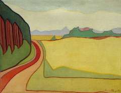 Sluijter J.J.H. - Landscape, Blaricum, oil on canvas 55.3 x 71.3 cm, signed l.r. and dated ca. 1914