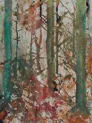 Jordens J.G, - Fir wood, watercolour on paper 64.2 x 47.6 cm, signed u.r. (double) and dated '85