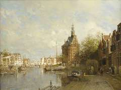 Klinkenberg J.C.K. - The Hoofdtoren, oil on canvas 90 x 120 cm, signed l.l. and dated 1901