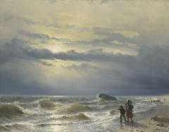 Meijer J.H.L. - Shipwreck, oil on canvas 88.8 x 115.4 cm, signed l.l. and dated 1864