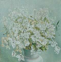 Fernhout E.R.J. - Wild flowers, oil on canvas 35 x 35 cm, signed l.r. with initial and dated '35