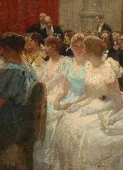 Waay N. van der - In de pauze, Concertgebouw Amsterdam, oil on canvas 80.9 x 61 cm, signed l.r.