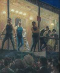 Staller G.J. - The boxing-match, pastel on paper laid down on painters' board 57.5 x 47.5 cm, signed c.r. and dated 1904