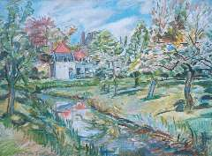 Sluijters jr. J, - A house in Loenersloot in spring, oil on canvas 59.9 x 80 cm, signed l.l.