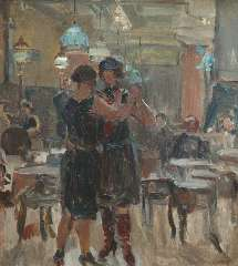 Israels I.L. - The café Scala, The Hague, oil on canvas 65 x 58 cm, signed l.r. and painted between 1927-1934