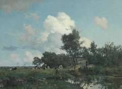 Tholen W.B. - A summer landscape, oil on canvas 75 x 99.5 cm, signed l.l.