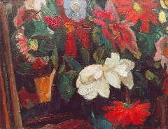 Gestel L. - Flowers, oil on canvas 41.3 x 53.4 cm, signed l.r. and dated '15