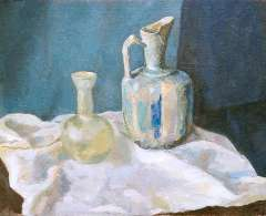 Sluijters jr. J. - Still life with a jug and a vase, oil on canvas 50.3 x 60.2 cm, signed u.l. and dated 1939