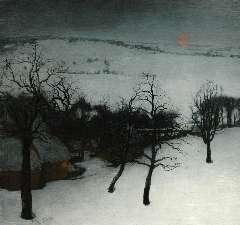 Saedeleer V. de - A winter landscape, olie op doek 126 x 131 cm, signed l.l. and dated 1931