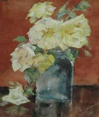 Kamerlingh Onnes M. - Roses, pencil and watercolour on paper 25.3 x 21.1 cm, signed l.r. and painted circa 1920