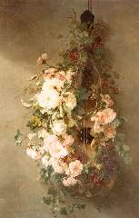 Roosenboom M.C.J.W.H. - A swag of roses, oil on canvas 103 x 68.3 cm, signed l.l.
