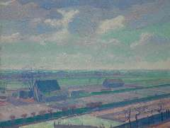 Smorenberg D. - Farms near Loosdrecht, oil on canvas 54.3 x 69.3 cm, signed l.r. and dated ´14