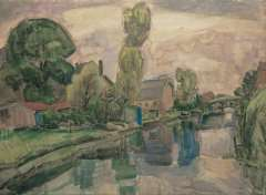 Gestel L. - View on Koedijk, watercolour on paper 72 x 98 cm, signed l.r. and dated 'Koedijk 1919'