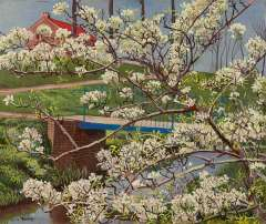 Bieling H.F. - A flowering tree, oil on canvas 38 x 45.4 cm, signed l.l.
