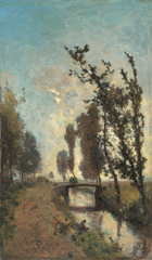 Gabriel P.J.C. - Morning twilight, oil on canvas 60.5 x 35.9 cm, signed l.r.