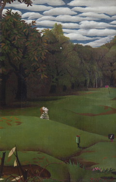 Koch P.F.Ch. - Golflinks I-II, oil on canvas 30,2 x 20,4 cm, signed l.r. and dated  '57