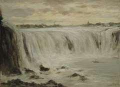 Apol L.F.H. - The Niagara falls, oil on canvas 30.3 x 40.5 cm, signed l.r.