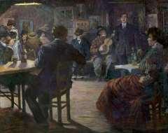 Bloos R.W. - Café chantant, oil on canvas 132.5 x 165.8 cm, signed l.l. and dated 'Paris 09'