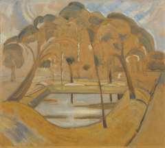 Heemskerck van Beest J.B. van - Parcview, Domburg, oil on board 45 x 51 cm, painted ca. 1911
