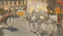 Maks C.J. - Souvenir de Paris, oil on canvas 42.5 x 72.4 cm, signed l.r. and painted circa 1908