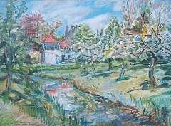 Sluijters jr. J, - A house in Loenersloot in spring, oil on canvas 59.9 x 80 cm, signed l.l.