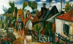 Velde G. van - A village, oil on canvas 45.3 x 65.8 cm, signed l.l.