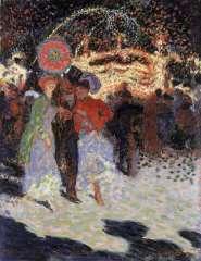 Sluijters J.C.B. - Kermesse à la Porte Maillot, Parijs, oil on canvas 35 x 27.3 cm, signed l.r. and dated 1906
