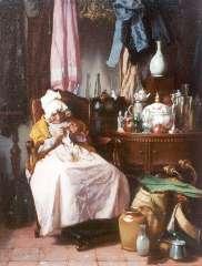 Bakker Korff A.H. - Bric-à-brac seller, oil on panel 19 x 14.5 cm, signed l.l. and dated ´67