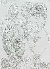 Picasso P. (RUIZ Y) - La Célestine, etching on paper 12 x 8.8 cm, dated 22.6.68 (mirrorwise)