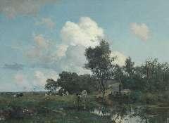 Tholen W.B. - A summer landscape, oil on canvas 75 x 99.5 cm, signed l.l.