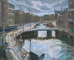Sluijters jr. J. - 'Het Rokin', Amsterdam, oil on canvas 65.2 x 80.3 cm, signed l.r.