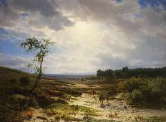 Lieste C. - Heathland near Oosterbeek, oil on panel 70.9 x 95.2 cm, signed l.l.