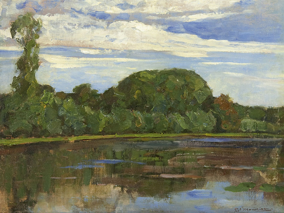 Mondriaan P.C. - The farm Geinrust along the river Gein, oil on canvas 47.7 x 63.8 cm, signed l.r. and dated ca 1905-1906