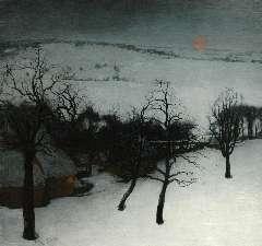 Saedeleer V. de - A winter landscape, olie op doek 126 x 131 cm, signed l.l. and dated 1931