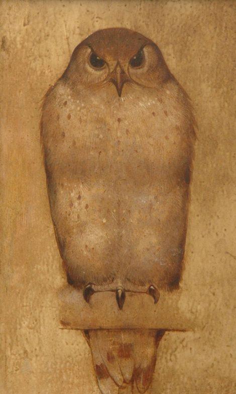 Berg W.H. van den - A sparrow hawk, oil on panel 22,7 x 14,5 cm, l.r. and verso
