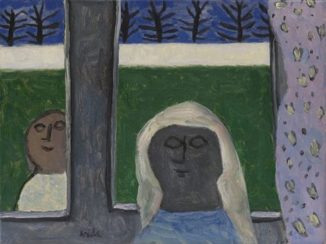 Roëde J. - Inside and outside, oil on canvas 44,7 x 60,1 cm, l.l.