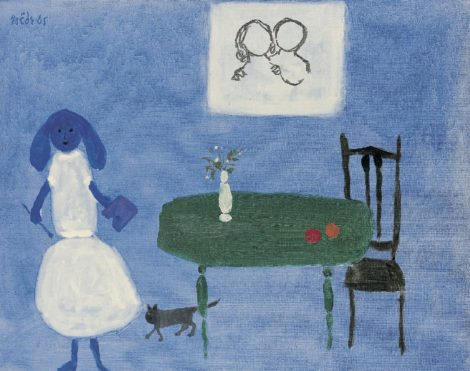 Roëde J. - La femme peintre, oil on canvas 46,5 x 61,5 cm, u.l. and dated '65