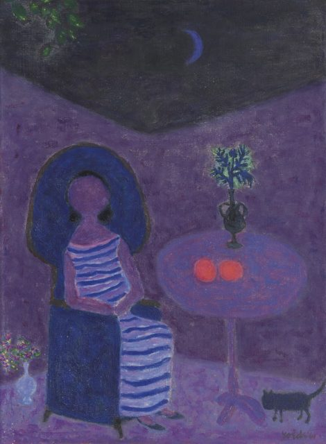 Roëde J. - Seated women at a table, oil on canvas 61 x 45 cm, l.r. and dated '61