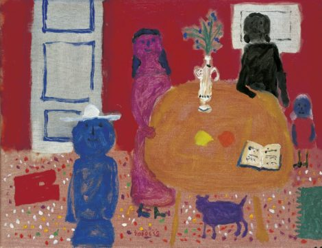 Roëde J. - The first music lesson, oil on canvas 47,2 x 60,7 cm, l.c. and dated '59